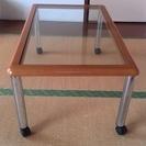 【値下げ中古】古いガラステーブル