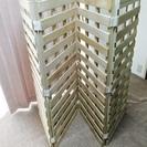 【特価:990円‼】桐のすのこ四つ折りたたみベッド