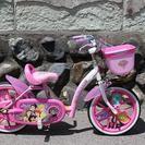 16インチ女の子用自転車(補助輪なし、ディズニープリンセス)