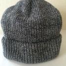 グレー ニット帽
