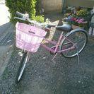 22インチ 女の子用自転車 差し上げます。