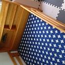 木製2段ベッドの上段のみ、マットレス付き