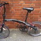 折りたたみ自転車 シマノ6段ギア 黒×赤 格安