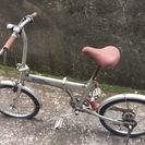 折りたたみ自転車(パンク)