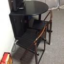 バタフライテーブルと椅子4脚