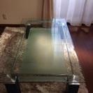〈キレイです〉 ガラスセンターテーブル