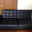 一部破れあり、無料です!黒のソファ
