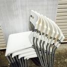 【終了】IKEA laver 白チェア 8セット