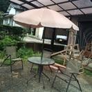 美品ガーデンテーブル5セット☆