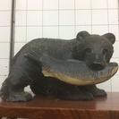 熊の彫物  2点 ( 小.大 )