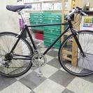 [1259]クロスバイク 700×28C 2×7段変速 ブラック