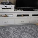 テレビボード 白 ピアノ塗装