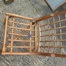 籐(ラタン)ダイニングテーブル。椅子4脚セット