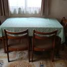 ダイニングテーブル+椅子4脚+テーブルクロス