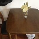 木製テーブル、椅子お譲りします。