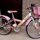 【取引完了】22インチ◆子ども用自転車◆ピンク×白◆ブリヂストン