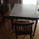 食卓テーブル&椅子のセットをお譲りします^^