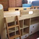 【交渉成立!ありがとうございました】カントリー風 木製システムベッド 子供部屋やお部屋の省スペースに!の画像