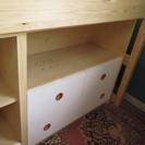 【交渉成立!ありがとうございました】カントリー風 木製システムベッド 子供部屋やお部屋の省スペースに! - 家具