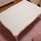 商談中 中古☆猫足 長方形 白テーブル