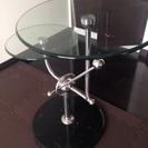 ガラスサイドテーブル ジュピター 大理石