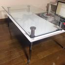 白 ガラスコーヒーテーブル(キレイです)