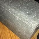 ブリキ蓋つき収納ケース