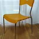 【600円 相談可】オレンジ色 椅子