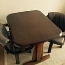 ダイニングテーブルセット 回転椅子2脚