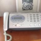 【取引中】中古FAX付電話  子機付き