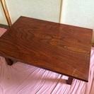 木製74cmx104cm. 33cm(折りたたみ式。高さ)