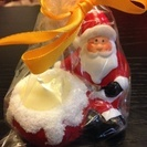 クリスマス キャンドル 5 個セットサンタさんがキャンドルを抱えて...