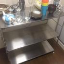 ステンレス キッチン サイドテーブル