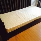 収納付きベッド+マットレス  分解可能 ブラウン