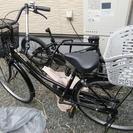 (取引中)ママチャリ・自転車・後ろ荷物かご付