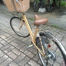 値下げしました!脚を開かず乗れる子供乗せ自転車! − 山形県