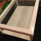 IKEAガラステーブル
