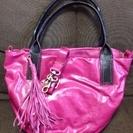 ピンク本皮トートバッグ