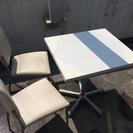 [商談中]カフェテーブル&チェア2脚(ホワイト)