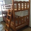 木製の2段ベット