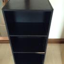 【配達可能】カラーボックス黒 高さ88cm