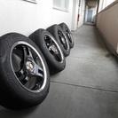 スーパーアドバンレーシング15×6.5J ほぼ新品タイヤ 185...