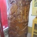 【衝立】ついたて◆彫刻◆木彫り◆飾り◆一枚木◆虎◆高さ150cm