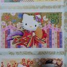 シールタイプのキティちゃん記念切手