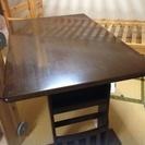 テーブル  ベンチ椅子  椅子二脚  セット