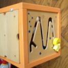 知育玩具BOX 付属品すべてあり、ふただけ少し壊れています *おまけ付き