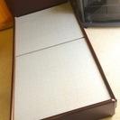 木製シングルベッド 茶色