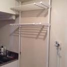 ランドリーラック つっぱり 突っ張り洗濯機棚 洗濯機ラック(白色)...