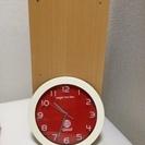 壁掛け時計赤