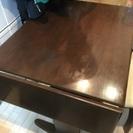 バタフライテーブル+回転椅子2脚+長椅子